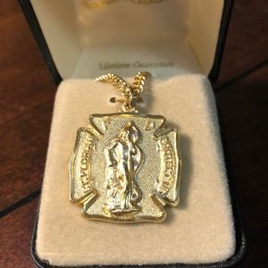 """New Saint Florian 1"""" Pendant-with 24"""" Chain🔥"""